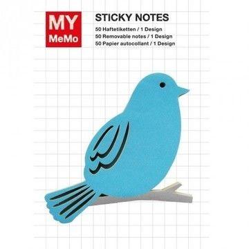 Sticky Notes Vogel blau 50 Stück - Bastelmaterial kaufen im Makerist Materialshop