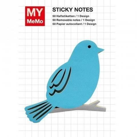Sticky Notes Vogel blau 50 Stück kaufen im Makerist Materialshop