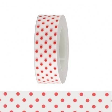 Tape weiß/rote Punkte 15mm 10m kaufen im Makerist Materialshop
