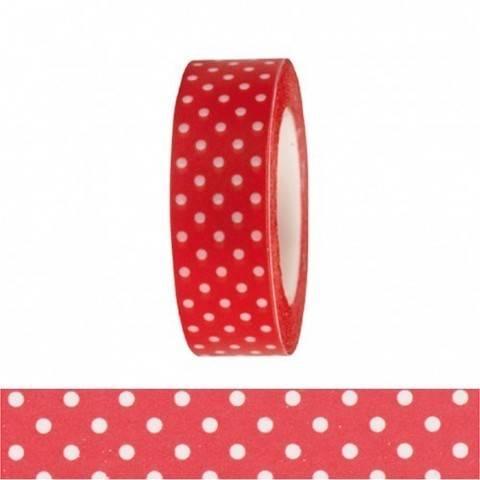 Tape rot/weiße Punkte 15mm 10m kaufen im Makerist Materialshop