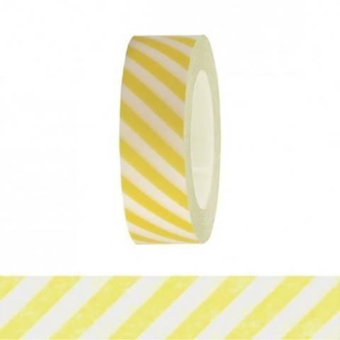 Tape weiß/neongelb gestreift 15mm 10m kaufen im Makerist Materialshop