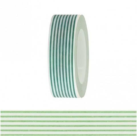 Tape weiß/neongrün gestreift 15mm 10m kaufen im Makerist Materialshop