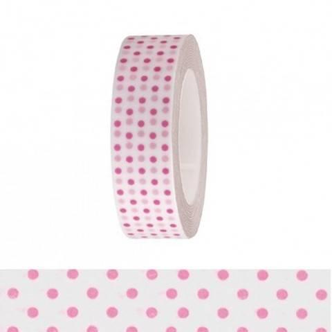 Tape weiß/neonpinke Punkte 15mm 10m kaufen im Makerist Materialshop