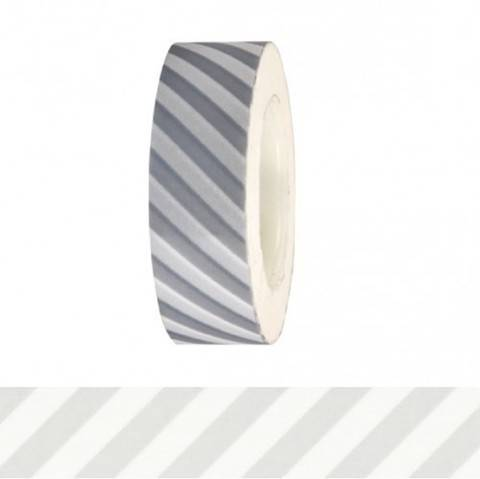 Tape weiß/silber gestreift 15mm 10m kaufen im Makerist Materialshop