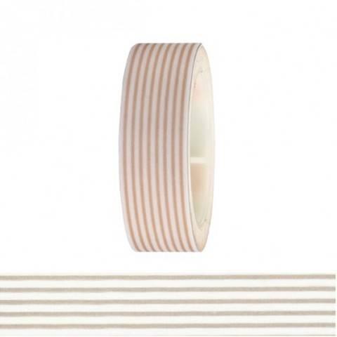 Tape weiß/bronze gestreift 15mm 10m kaufen im Makerist Materialshop
