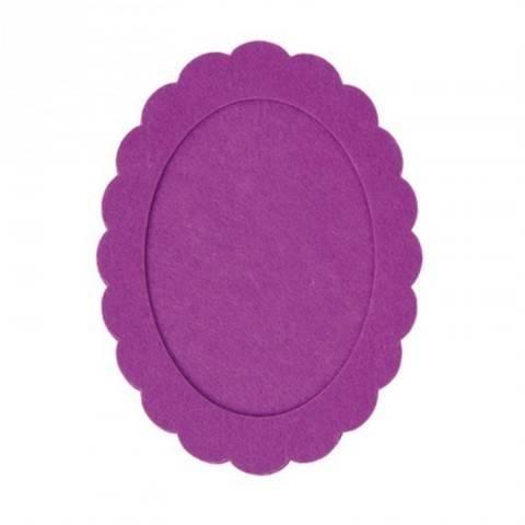 Filzrahmen oval lila 15x20 cm kaufen im Makerist Materialshop