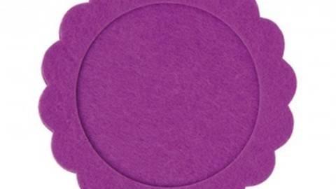 Filzrahmen rund lila 10cm kaufen im Makerist Materialshop