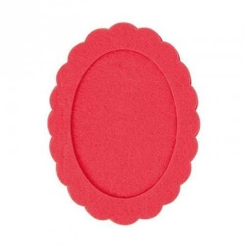 Filzrahmen oval azalee 10,5x14cm kaufen im Makerist Materialshop
