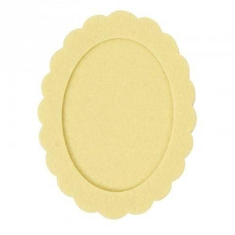 Filzrahmen oval gelb 10,5x14 cm kaufen im Makerist Materialshop