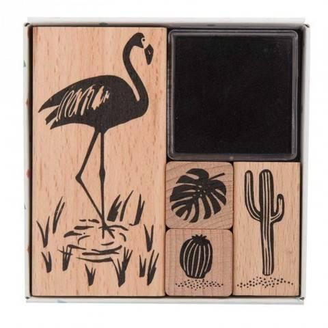 Stempelset Tropical Spring Flamingo 4 Stück kaufen im Makerist Materialshop