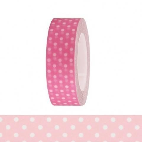 Tape pink/weiße Punkte 15mm 10m kaufen im Makerist Materialshop