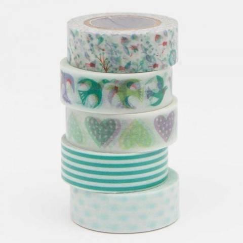 Tape Set Romatic Flowers blau 5-teilig kaufen im Makerist Materialshop