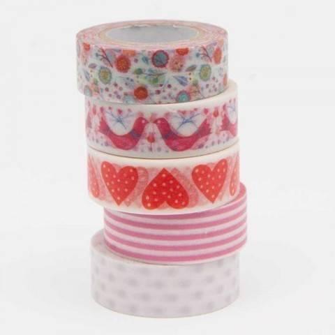 Tape Set Romatic Flowers rot 5-teilig kaufen im Makerist Materialshop