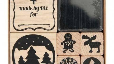 """Stempelset Weihnachten """"Countryside"""" 6 Stück kaufen im Makerist Materialshop"""