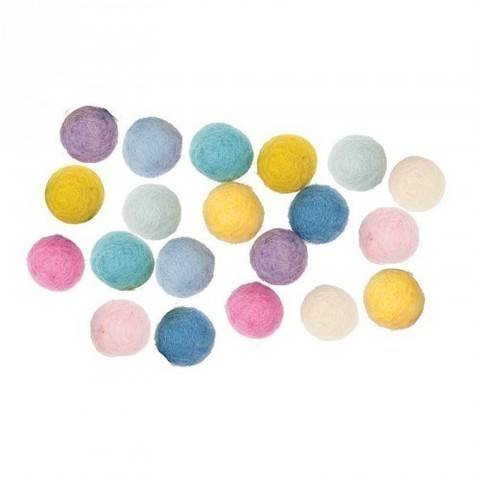 Filzkugeln-Mix pastell 1,5cm 20 Stück kaufen im Makerist Materialshop