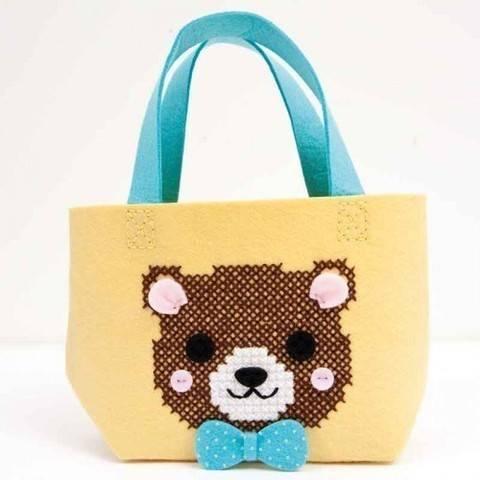 Bastel-Set Kindertasche Bär gelb 16,5x16x11cm kaufen im Makerist Materialshop