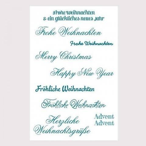 """Silikonstempel """"Schriften Weihnachten"""" 9 Motive kaufen im Makerist Materialshop"""
