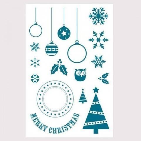 "Silikonstempel ""Merry Christmas"" 17 Motive kaufen im Makerist Materialshop"