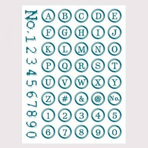 Silikonstempel Alphabet + Zahlen rund kaufen im Makerist Materialshop