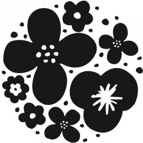 Stempel Blumen rund 3,5cm kaufen im Makerist Materialshop