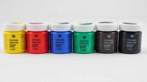 Textilfarben Basic 6x40ml kaufen im Makerist Materialshop