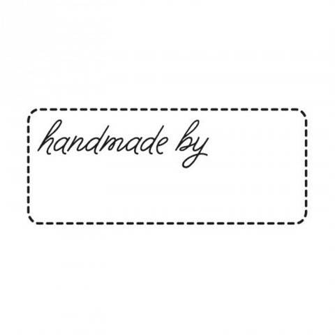 "Stempel ""handmade by"" 4x2cm kaufen im Makerist Materialshop"