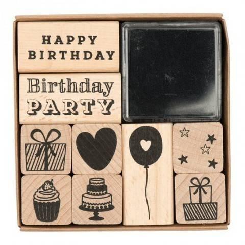 Stempelset Geburtstag 8x8cm kaufen im Makerist Materialshop