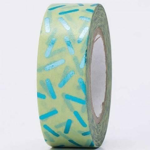 Tape Stracciatella türkis Hot Foil 15mm 10m kaufen im Makerist Materialshop