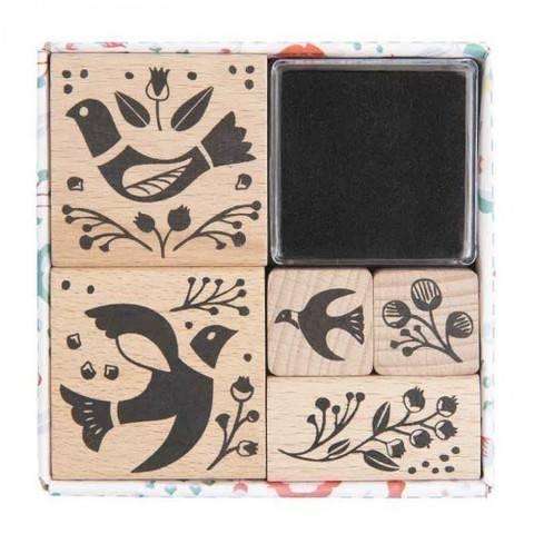 Stempelset Birdie 5 Stück kaufen im Makerist Materialshop