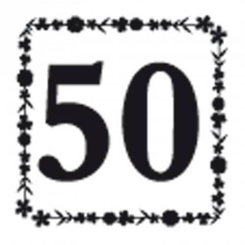"""Stempel """"50"""" 3,5x3,5cm kaufen im Makerist Materialshop"""