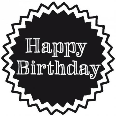 """Stempel """"Happy Birthday"""" rund 3,5cm kaufen im Makerist Materialshop"""
