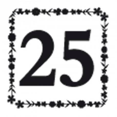 """Stempel """"25"""" 3,5x3,5cm kaufen im Makerist Materialshop"""