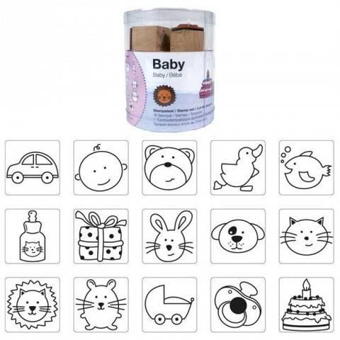 Stempelset Baby 2x2 cm 15 Stück kaufen im Makerist Materialshop