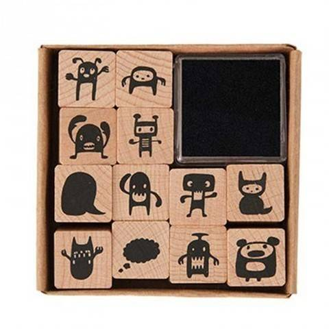 Stempelset Monster 2x2cm 12 Stück kaufen im Makerist Materialshop