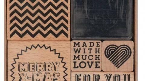 Stempelset Merry X-Mas 5 Stück kaufen im Makerist Materialshop