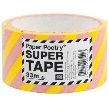 Paketklebeband gestreift gelb/rosa 5cm 33m - Bastelmaterial kaufen im Makerist Materialshop