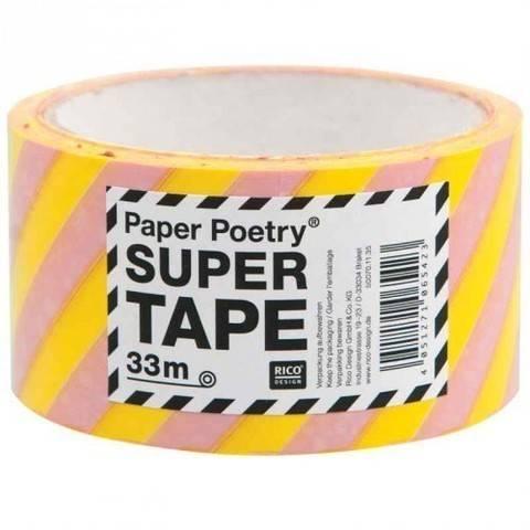 Paketklebeband gestreift gelb/rosa 5cm 33m kaufen im Makerist Materialshop