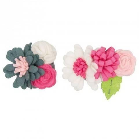 Blütenbouquets Bastelpackung klein pink/weiß kaufen im Makerist Materialshop