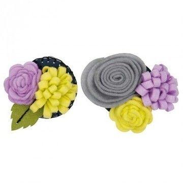 Blütenbouquets Bastelpackung klein flieder/hellgrün - Bastelmaterial kaufen im Makerist Materialshop