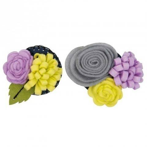 Blütenbouquets Bastelpackung klein flieder/hellgrün kaufen im Makerist Materialshop