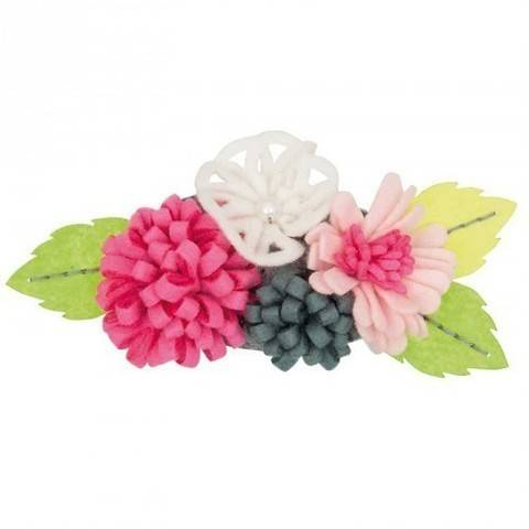 Blütenbouquets Bastelpackung groß pink/weiß kaufen im Makerist Materialshop
