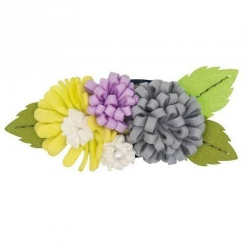 Blütenbouquets Bastelpackung groß flieder/hellgrün kaufen im Makerist Materialshop