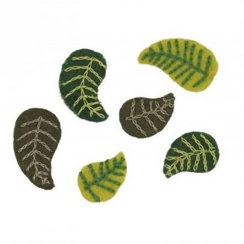 Filzblätter klein 6 Stück kaufen im Makerist Materialshop
