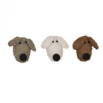 Filz-Hundeköpfe 3 Stück - Bastelmaterial kaufen im Makerist Materialshop
