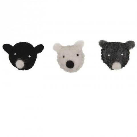Filz-Bärenköpfe 3 Stück kaufen im Makerist Materialshop