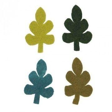 Filzblätter groß 4 Stück - Bastelmaterial kaufen im Makerist Materialshop