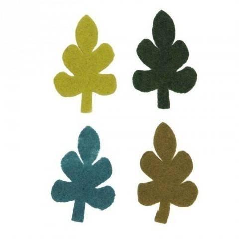 Filzblätter groß 4 Stück kaufen im Makerist Materialshop
