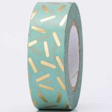 Tape Stracciatella gold Hot Foil 15mm 10m - Bastelmaterial kaufen im Makerist Materialshop