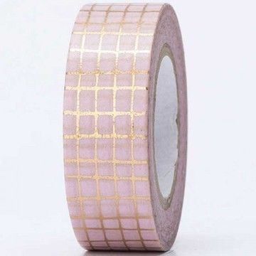 Tape Gitter gold Hot Foil 15mm 10m - Bastelmaterial kaufen im Makerist Materialshop