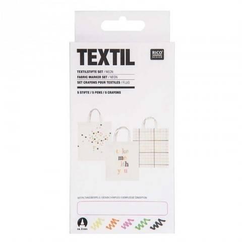 Textilstifte Neon 5 Stück kaufen im Makerist Materialshop